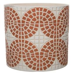 Übertopf Mosaik Terracotta